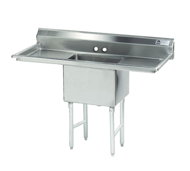MAJ1-181812DCSY – Majestic Stainless Steel Sink, Left & Right Drainboards
