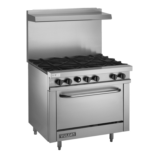 V36 – 36″ gas restaurant range