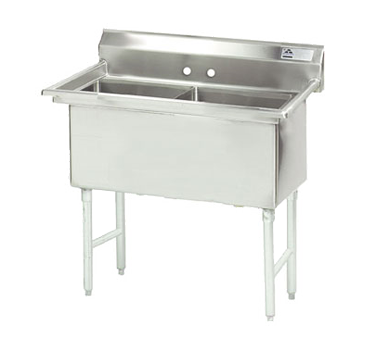 MAJ2-242412NCSY – Majestic Stainless Steel Two Compartment Sink
