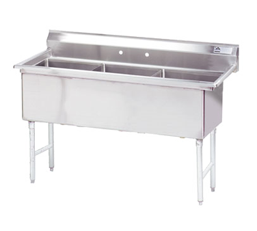 MAJ3-181812NCSY – Majestic Stainless Steel Three Compartment Sink