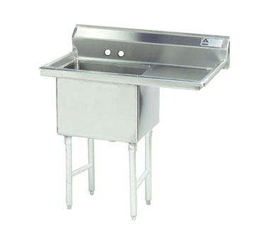 MAJ1-242412RCSY – Majestic Stainless Steel Sink, Right Drainboard