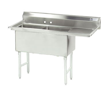 MAJ2-181812RCSY – Majestic Stainless Steel Two Compartment Sink, Right Drainboard